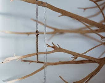 Nail pendant necklace with chain