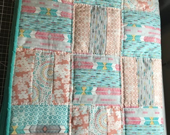 Sparkly jelly roll quilt