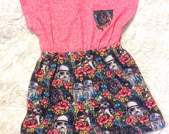 Star Wars Girl Romper Size 10 Ready to Ship