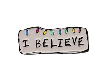 I Believe Christmas Stranger Things enamel lapel pin