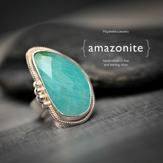 Amazonite - Sterling Silver Statement Ring