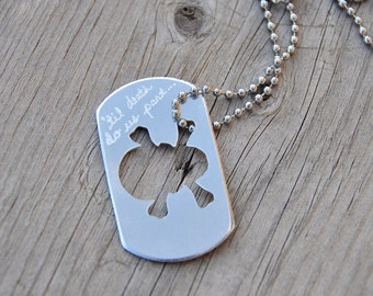 Dog tag boyfriend girlfriend boyfriend gift hand stamped dog tag necklace personalized love gift for boyfriend girlfriend gift skull