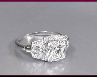 Antique Engagement Ring Art Deco Engagement Ring Art Deco Ring Alternative Engagement Ring Statement Ring Platinum Ring Unique Ring for Her