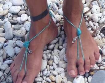 Foot decorations, barefoot sandals