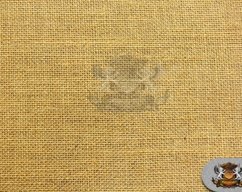 "Hi Quality Burlap Jute Fabric Camel / 60"" Wide / Sold by the yard"
