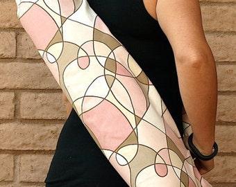 Yoga Mat Bag, Yoga Mat Tote, Yoga Bag, Yoga Tote, Yoga Sling, Yoga Sac, Yoga Sack, Handmade, Pink CARNIVAL