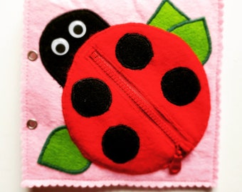 Activity book page - ladybug