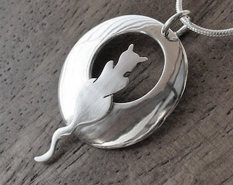 Silver Jewelry, Silver Pendant, Silver Jewellery, Cat Jewelry, Cats, Cat