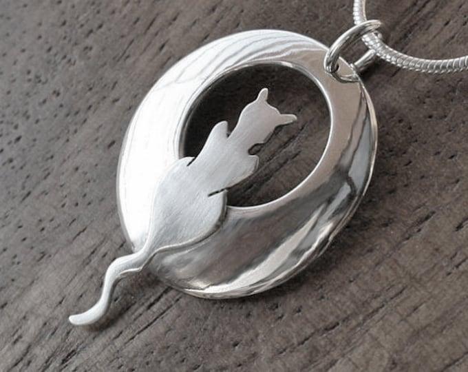 Silver Jewelry, Silver Pendant, Silver Jewellery, Cat Jewelry, Cats, Cat