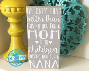 Personalized Grandma Sign- Mother's Day Gift, Grandma Gift, Gift for Grandma, Mother's Day Gift for Grandma, Gift for Mom, Personalized Gift