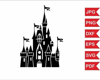 Disney castle svg file, Disney castle home svg, Disney castle png, Disney castle silhouette, Disney castle download, Disney castle digital