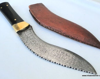 Damascus Steel Blade Knife Dagger Sheath India