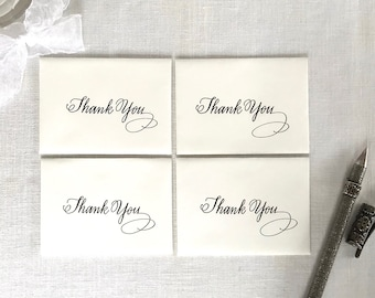 Mini Gift Envelopes - Mini Thank You Gift Cards - Mini Gift Card and Envelopes -  Hand Lettered Calligraphy Gift Cards - Set of 4 Gift Cards