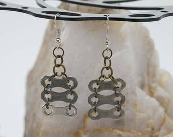 Bicycle Chain Ladder Earrings