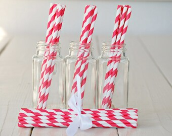Stripe Straws RED - Great Parties Supplies from Mary Had a Little Party