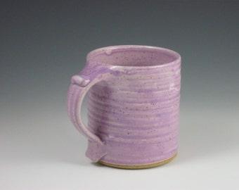 Glossy Violet Purple Thumbrest Coffee Mug