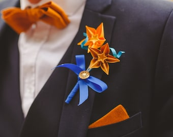 Custom made Origami Paper Buttonhole / Boutonniere