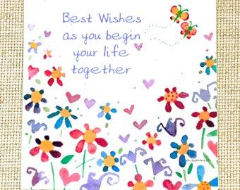 Wedding Shower card;Wedding Note card; Engagement Card; Engagement Note card; Wedding Congratulations Card; Engagement Congratulations card