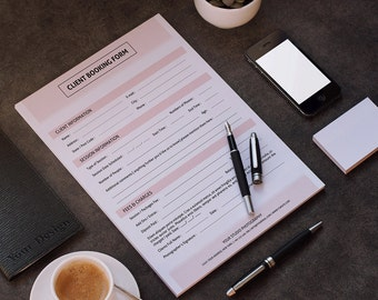 Client Booking Form For Professional Photographer | Client Contract Form | Photoshop and Elements Template | Instant Download