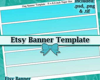 Etsy Banner DIY DIGITAL Collage Sheet TEMPLATE 11x8.5 Page with Video Tutorial Instructions (Instant Download)