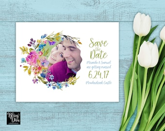 Summer Breeze Save the Date Custom Printable