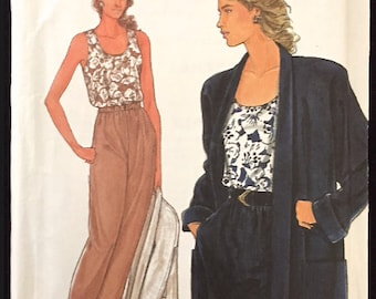 PLUS SIZE Sewing Pattern ~ Perfect for Summer EASY Pants Top Kimono Jacket 6 Sizes 9659