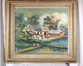 JerShion village oil on canvas (ART10004)