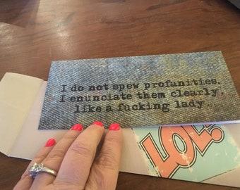 Profanities Greeting card