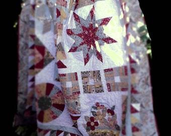 Patchwork and Applique' Quilt, Sampler Quilt