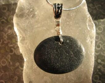 Lake Superior Basalt Perfect Balance Oval Zen Stone Pendant Necklace