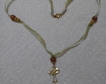 Cross an Bead Necklace