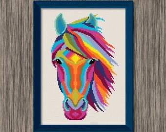 Horse Head  - PDF Cross Stitch Pattern