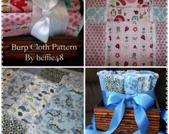 Make a Baby Gift, Super Simple, Rag Burp Cloth Pattern Tutorial, Pdf w photos