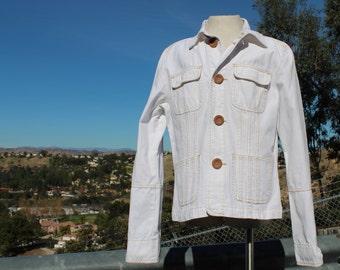 White Cotton Jacket (Vintage / 80s)