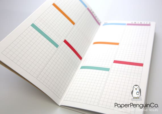 3 BOOK BUNDLE Midori Insert Daily Plain Calendar Regular A5 Wide B6 Personal A6 Pocket Field Notes Passport DO1P Undated Travelers Notebook