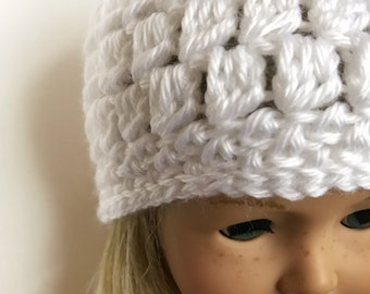 "Crochet Pattern - Cluster Stitch Hat for 18"" inch and American Girl doll"