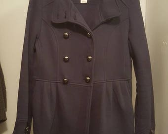 LIKE NEW Navy fleece peacoat!