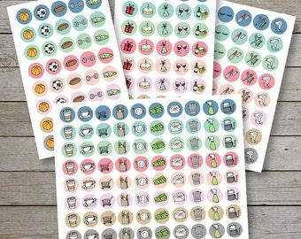 Printable planner stickers / planner icon stickers / planner icons / coffee planner icon / shopping icon / erin condren / bullet journal