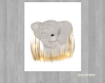 Elephant nursery decor, nursery wall art, elephant nursery, elephant prints, nursery wall decor, children's room art, safari nursery