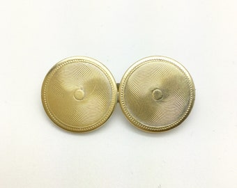 Edwardian Cufflink Conversion Brooch ~ Silver Brooch