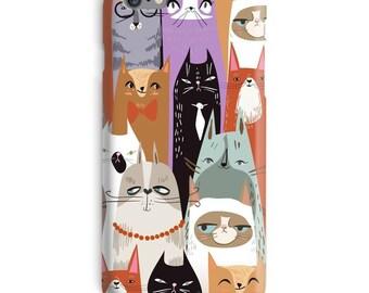 Hipster iPhone Case, Cat iphone 7 case, Grumpy Cat iphone 7 plus case, Funny iphone 6 case, Humor iphone 6s case, Cats iphone case