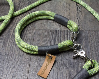 "Rudelwohl. Dew Collar ""green pepper""-Fixed dog collar/leash/Tauleine/dog Leash"