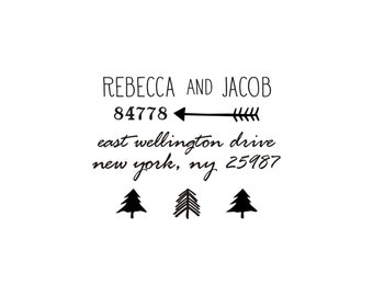 Woodland Return Address Stamp