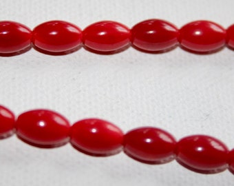 Shell - Coral Rice 10x6mm