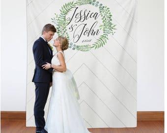 Floral Bridal Shower Photo Backdrop, Boho Bridal Shower Decorations, Custom Photobooth Backdrop, Engagement Party Decor // W-A50-TP ASH1 AA3