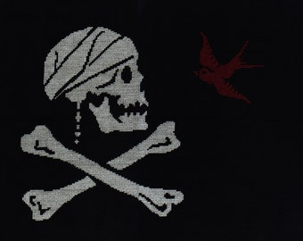 Jack Sparrow Pirate Flag Cross Stitch Pattern
