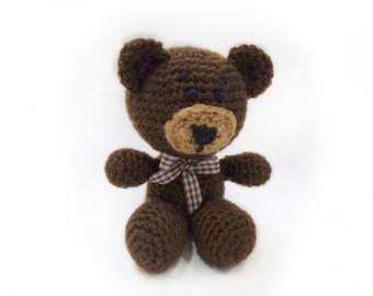 Teddy bear,knitted bear,knitted toy,kid gift,soft toy, newborn toy, stuffed bear,plush toy gift,birthday gift, K005