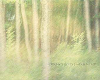 Green Heart I Fine Art Photographic Print 16x24 Abstract Forest Trees Woods Nature Woodland