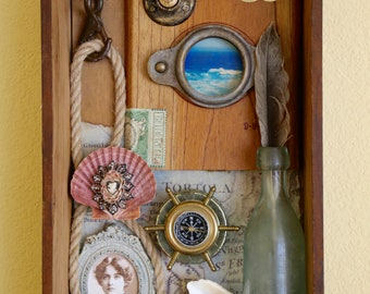The Sailors Shelf - Found Object Assemblage