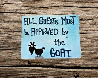 Superieur Handmade Wood Sign   Custom Wood Sign   Hand Painted Goat Wood Sign    Handmade Goat